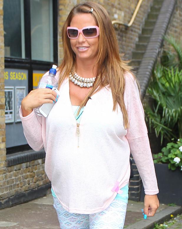 Pregnant Katie Price seen leaving FUBAR Radio in London - 1 July 2014