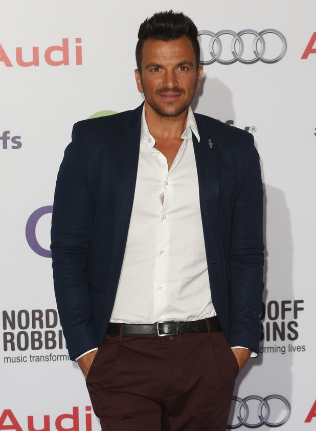 Peter Andre arrives at Nordoff Robins Silver Clef Awards 2014, London O2, 4 July