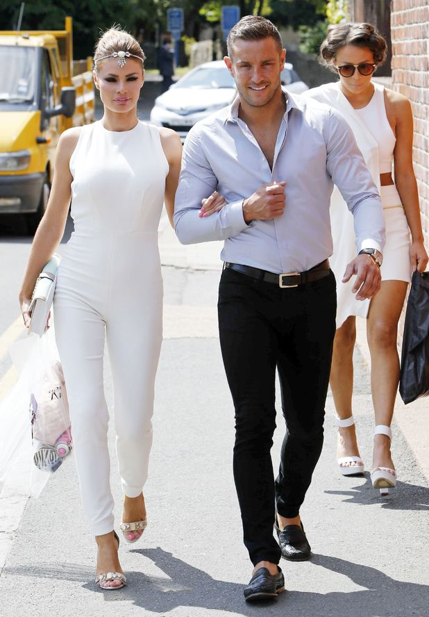 Chloe Sims and Elliot Wright arrive at Charlie's Delicatessen opening, Brentwood, Essex, Britain - 02 Jul 2014.
