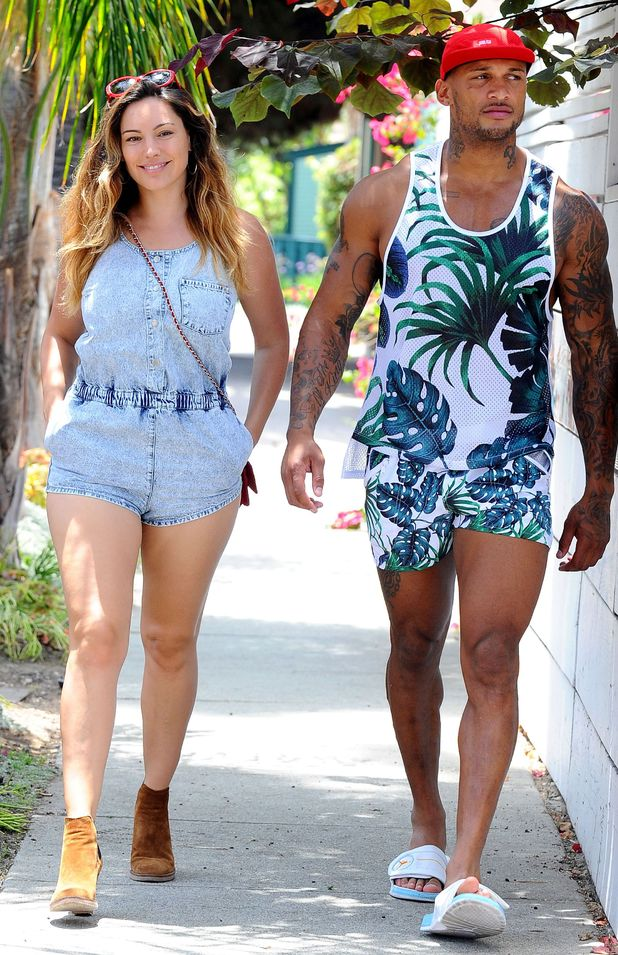 Kelly Brook and David McIntosh out and about, Los Angeles, America - 02 Jul 2014.