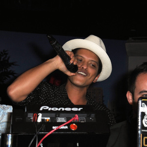Bruno Mars holds Wireless after party at Playboy Club London. 6 July 2014.