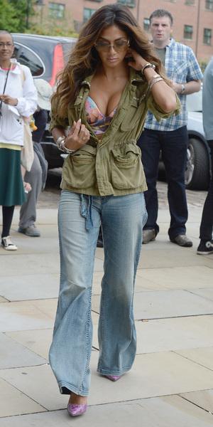 Nicole Scherzinger outside Key 103 radio, Manchester, 8 July