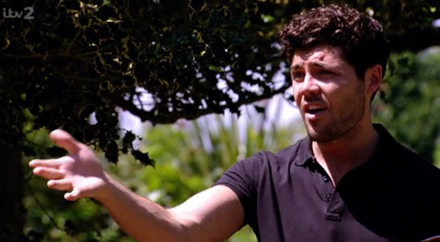 Tom Pearce on Grace and her ex, TOWIE, ITV, 9 July