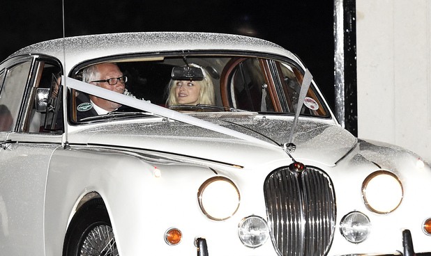 Fearne Cotton en route to her wedding to Jesse Wood, London, 4 July