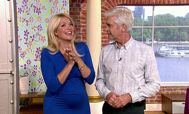 This Morning, Shown on ITV1 HD - Holly Willoughby and Phillip Schofield - 8 July 2014.