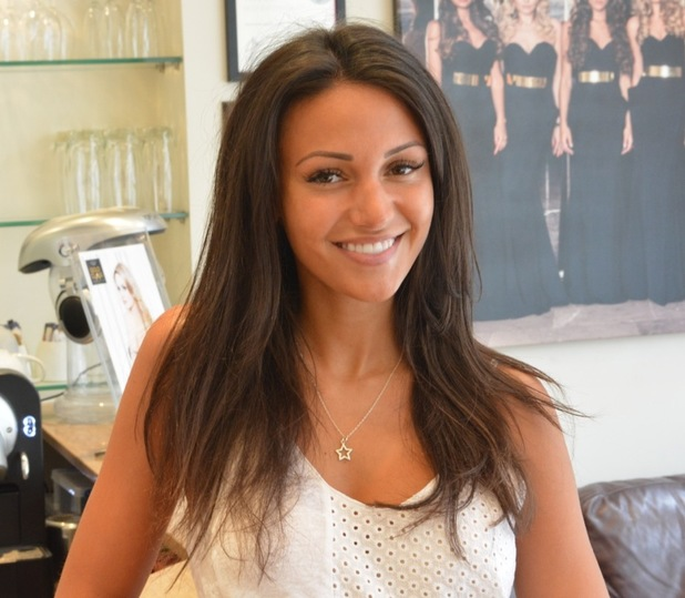 Michelle Keegan gets new hair extensions fitted at Inanch London - 2 July 2014