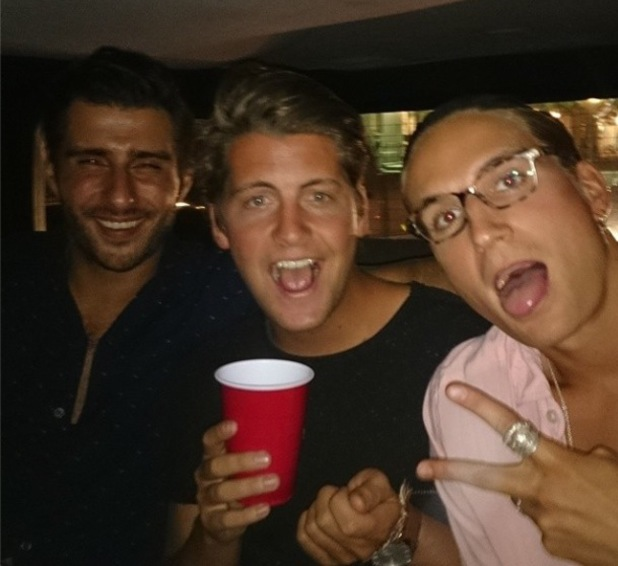 Stevie Johnson and Oliver Proudlock spend Independence Day at the Hamptons. (4 July).