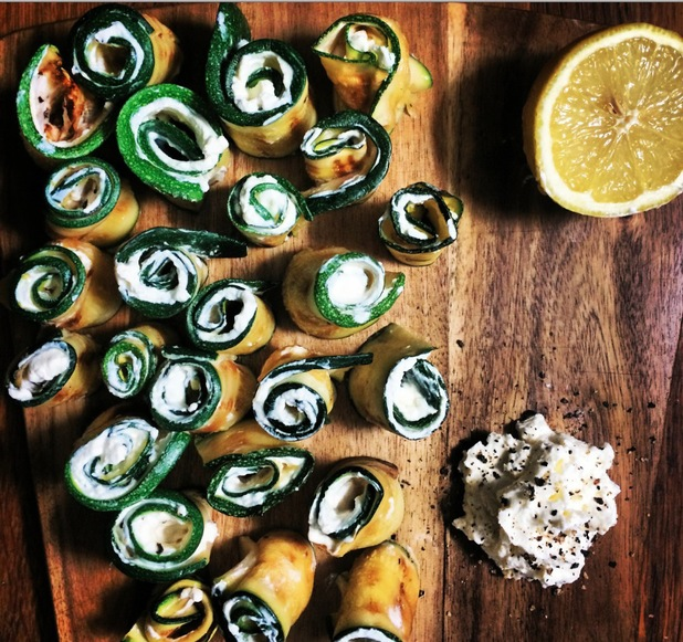 THE CHIAPPAS Griddled Courgettes and Zingy Lemon rolls