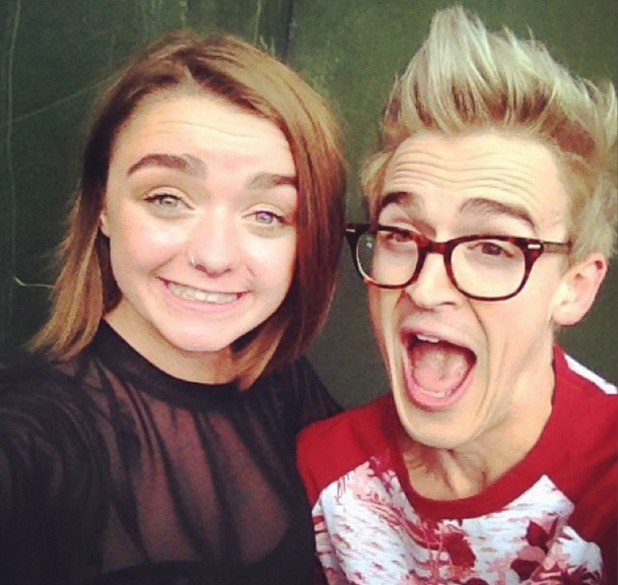 Tom Fletcher and Maisie Williams, British Summer Time, Hyde Park, London,  6 July