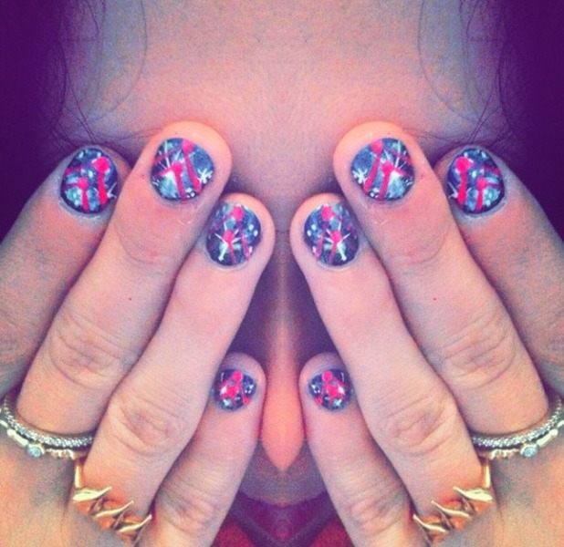 Eliza Doolittle's spacey manicure, courtesy of celebrity manicurist Sophy Robson, 10 July 2014