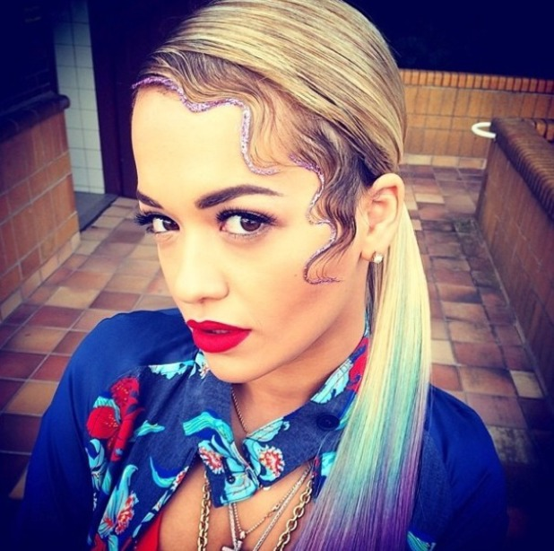 Rita Ora shows off bright new hair, 12.7.14