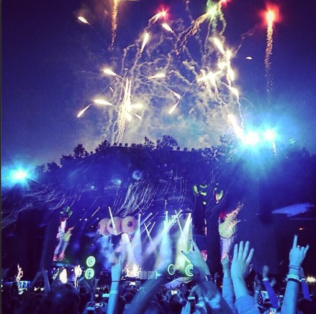 Tom Fletcher shares pictures of McBusted gig in London's Hyde Park - 7 July 2014
