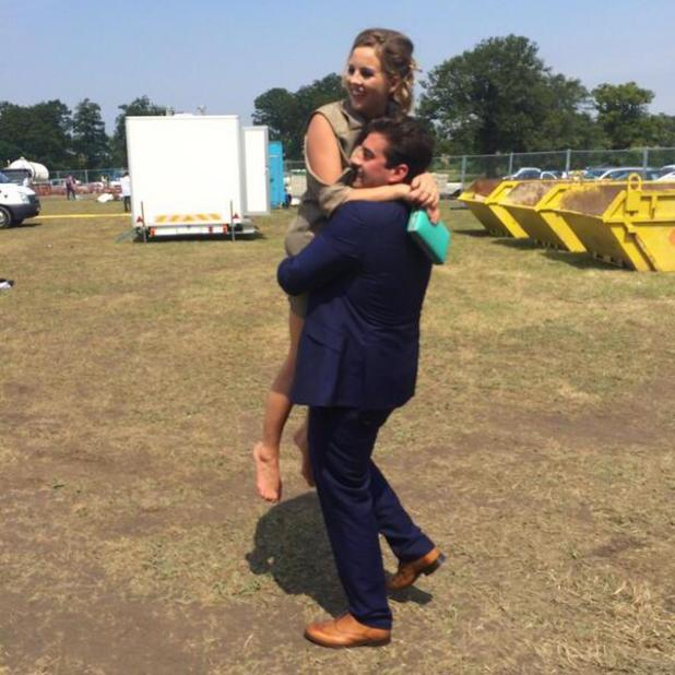 Lydia Bright and James Argent attend the Duke of Essex Polo Grand Prix Day 1, Hylands Park, Chelmsford, Britain - 12 Jul 2014