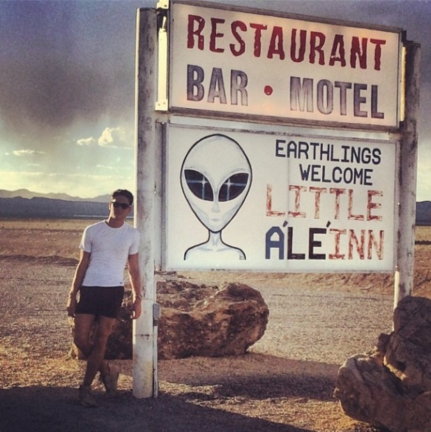 Joey Essex heads to America - Area 51 - for new Educating Joey Essex reality show. (9 July).