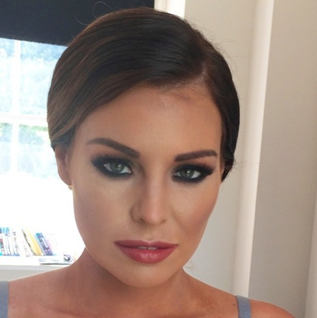 TOWIE's Jess Wright flaunts smoky eyes and rosy lips courtesy of make-up artist Krystal Dawn - 9 July 2014