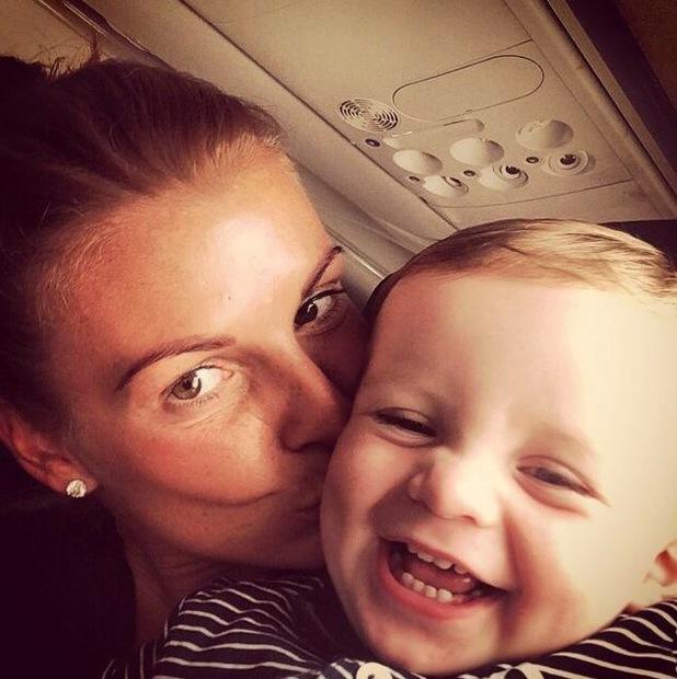 Coleen Rooney and baby Klay plane selfie, Facebook, 11 July