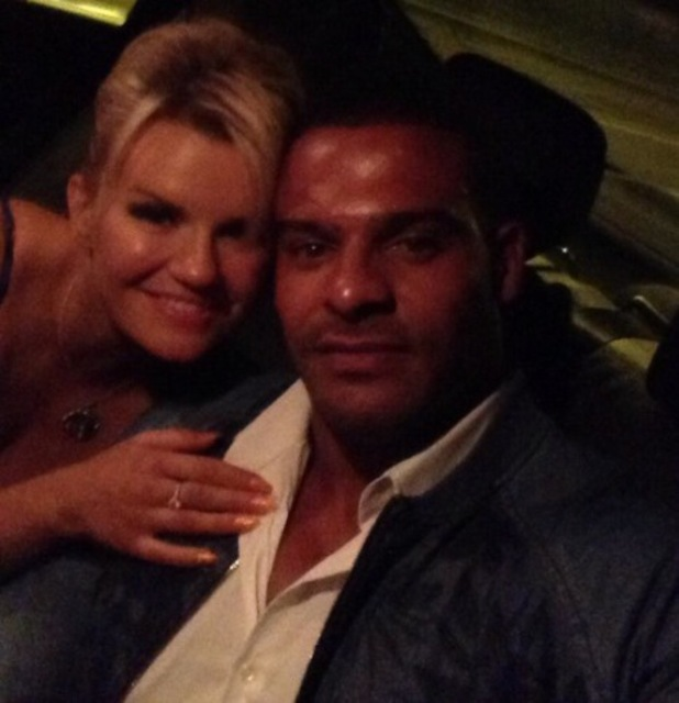 Kerry Katona cuddles up to fiance George Kay after a date night in London - 8 July 2014