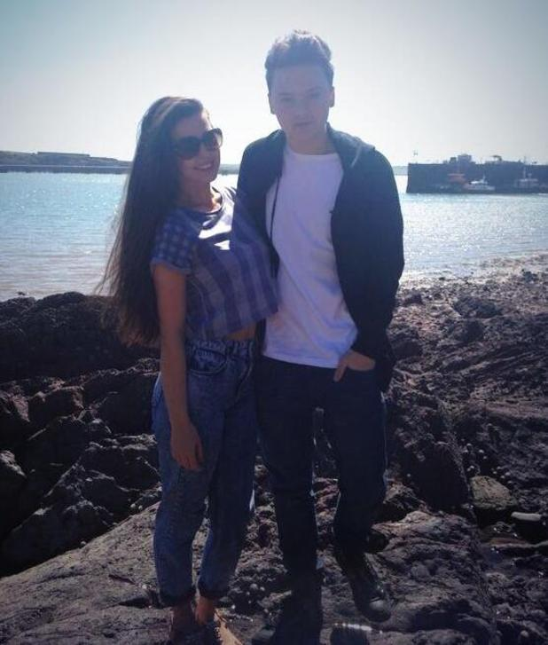 Conor Maynard poses with girlfriend Victoria Tansey (19 April).