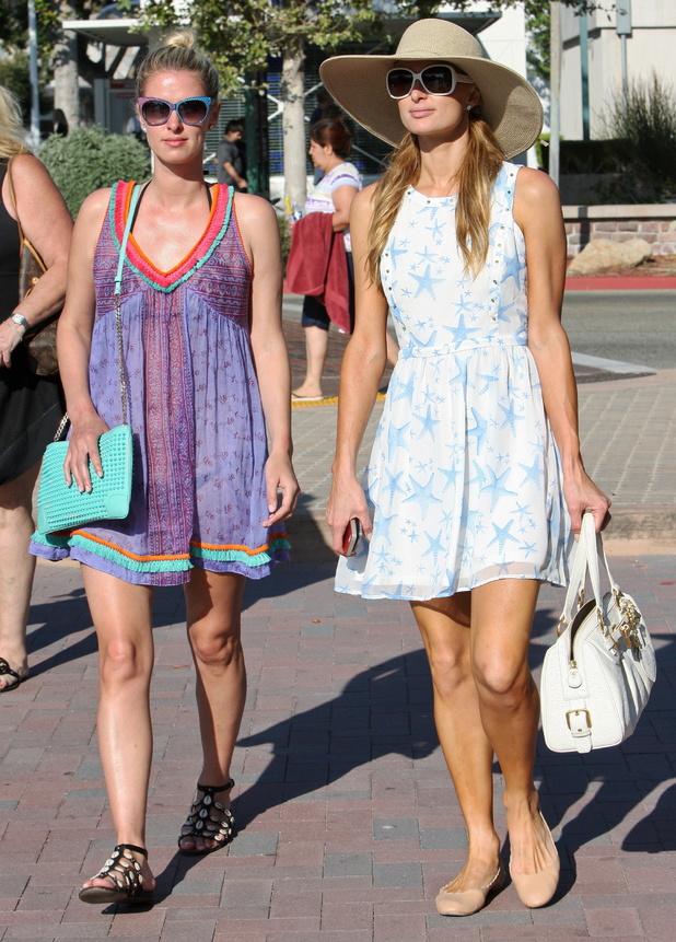 Paris Hilton and Nicky Hilton go shopping in Malibu, America - 5 July 2014