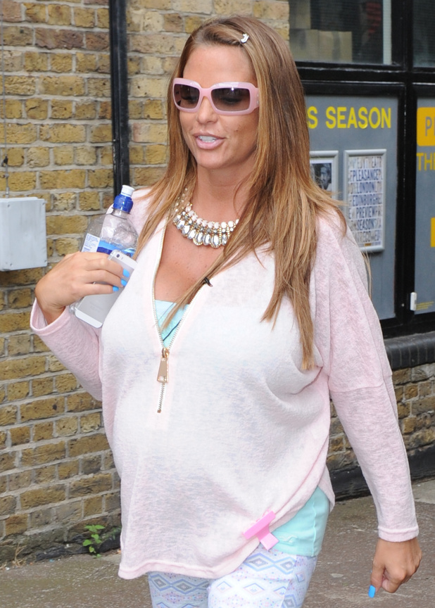 Katie Price seen leaving FUBAR Radio in London 07/01/2014 London, United Kingdom