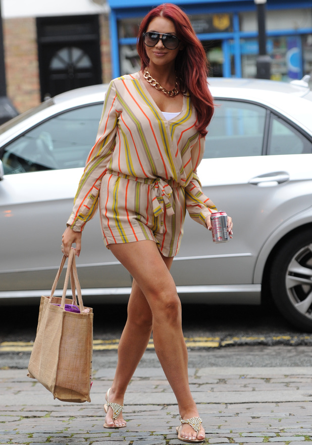 Amy Childs seen at Fubar Radio in London - 11 July 2014