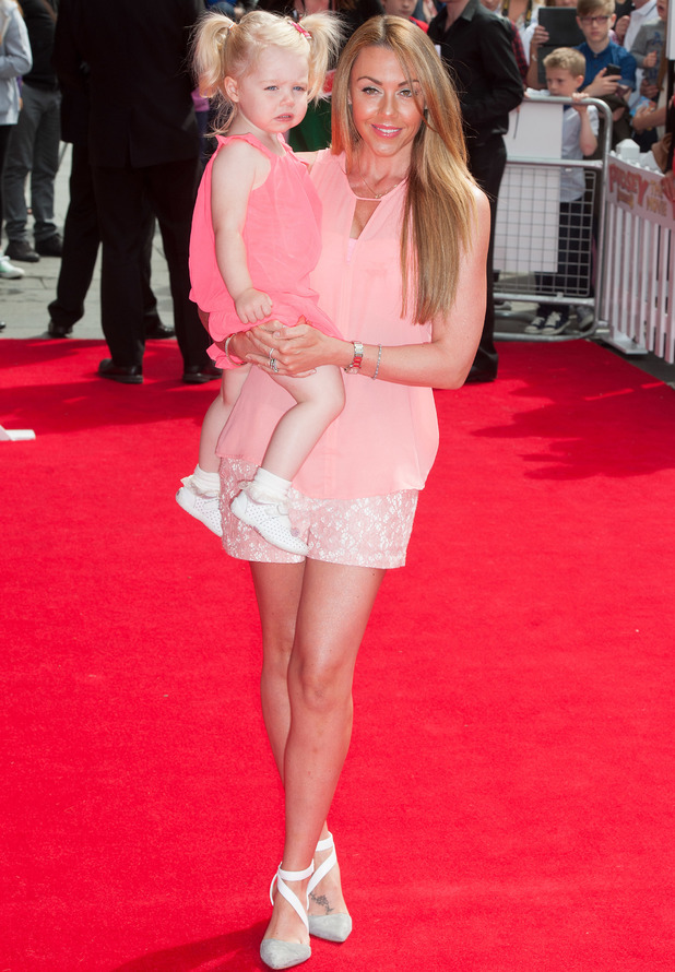 Michelle Heaton and daughter Faith at Pudsey the Movie premiere, 13.7.14