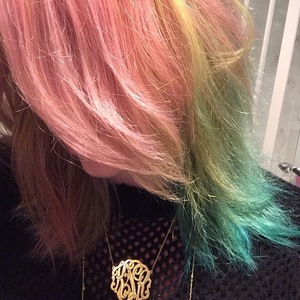 Kesha rainbow hair, Instagram, 14 March 2014
