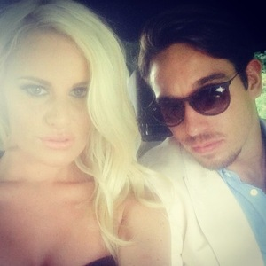 James Lock and Danielle Armstrong attend the Duke of Essex Polo Grand Prix Day 1, Hylands Park, Chelmsford, Britain - 12 Jul 2014