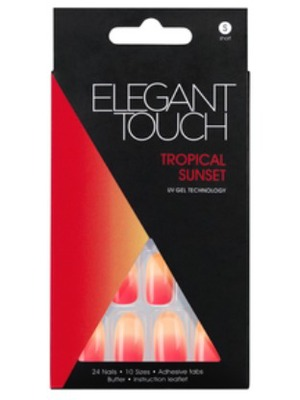 Elegant Touch False Nails in Tropical Sunset