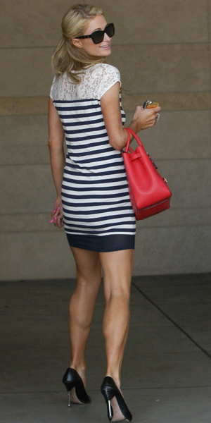 Paris Hilton spotted outside a tanning salon in Beverly Hills, 18 July 2014