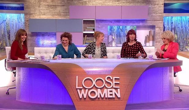 Loose women panel on ITV - 20 February 2014.
