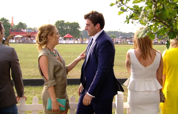 TOWIE preview: James 'Arg' Argent and Lydia Bright at the Essex Polo. Airs: 16 July 2014.