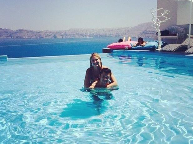Cheska Hull and boyfriend enjoy romantic holiday in Santorini, Greece, 15 July