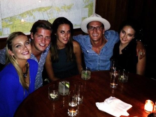 Stevie Johnson and Stephanie Pratt join MIC co-star for dinner in New York, 14 July