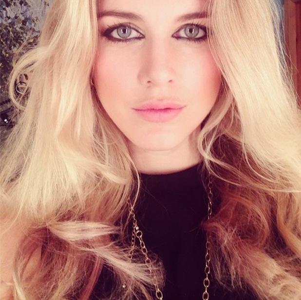 Former Made In Chelsea star Ashley James takes an Instagram selfie - 29 June 2014