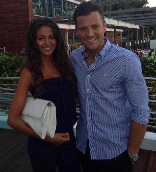 Mark Wright and Michelle Keegan enjoy a holiday in Majorca - 14 July 2014
