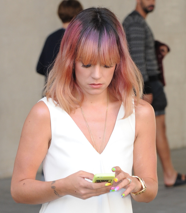 Lily Allen seen leaving BBC Radio One studios in London, 15 July 2014