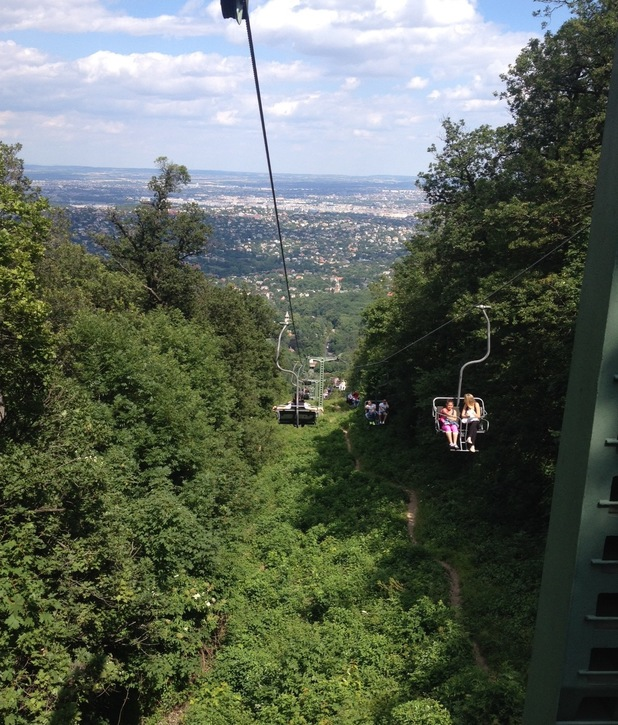 Chair lift over the Buda hills