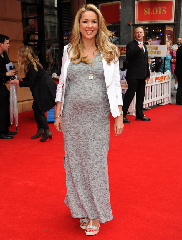 Pregnant Claire Sweeney at the UK premiere of 'Pudsey: The Movie' held at Vue West End - Arrivals 07/13/2014 London, United Kingdom