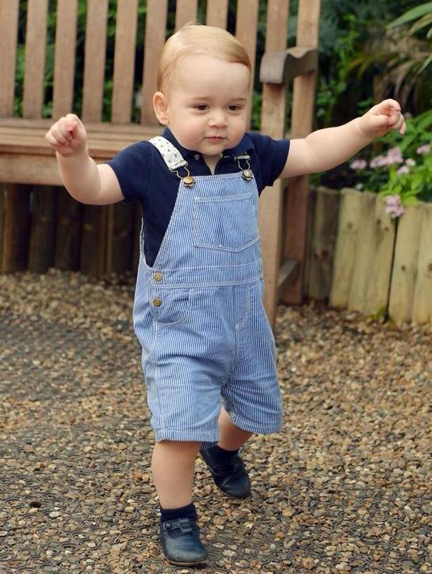 Official picture of Prince George released to mark his first birthday, 20 July 2014