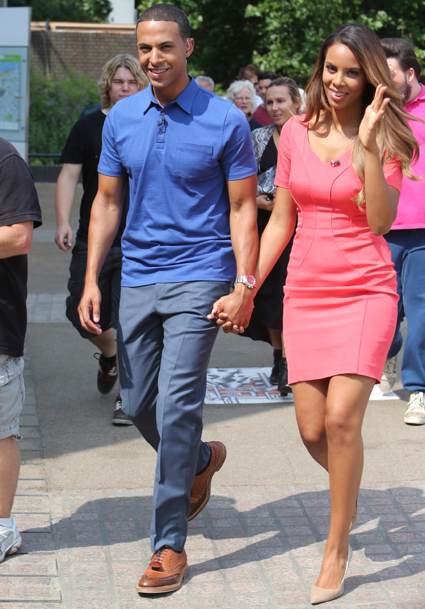 Marvin and Rochelle Humes filming for This Morning, Southbank, London, 18 July