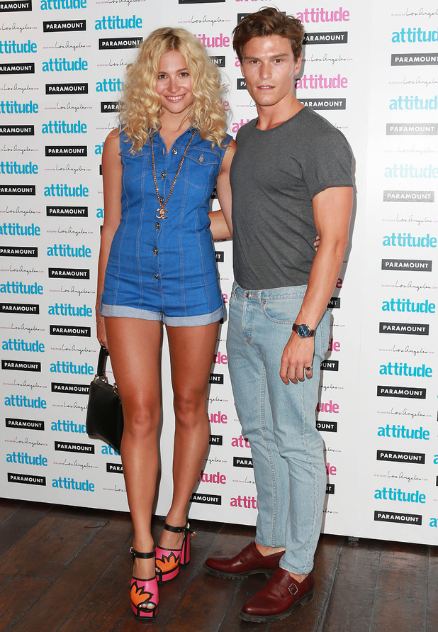 Pixie Lott and Oliver Cheshire at Attitude's Hot 100 Party, London, 16 July
