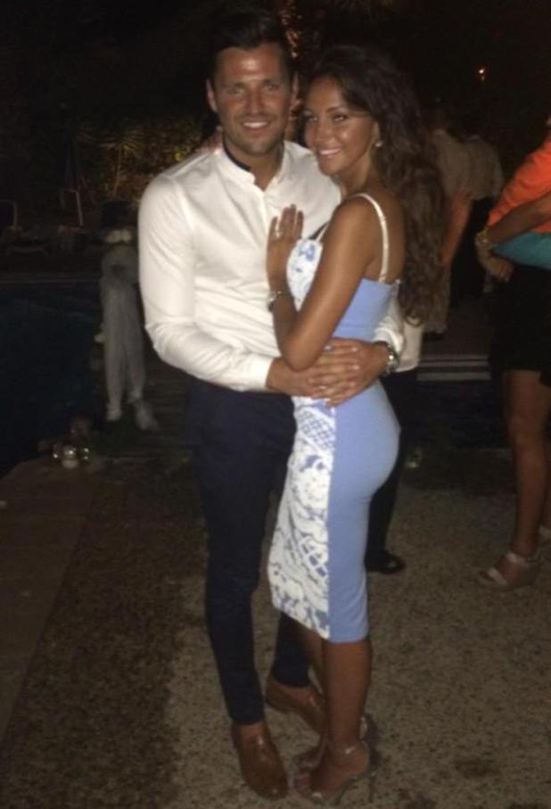 Mark Wright and Michelle Keegan cuddle up together at Leah Wright's wedding - 18 July 2014