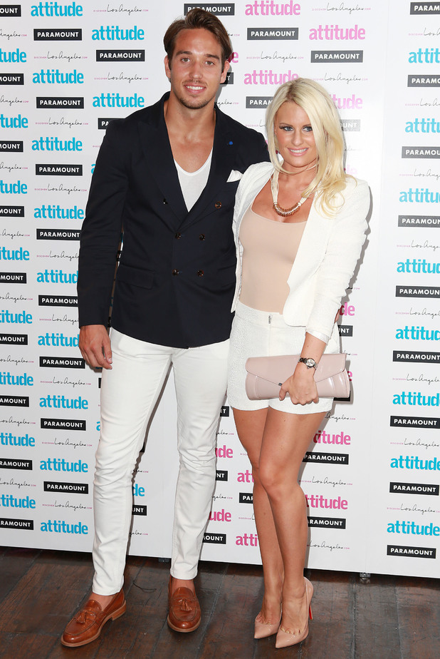 TOWIE's Danielle Armstrong and James Lock attend the Attitude Hot 100 Party in London, England - 16 July 2014