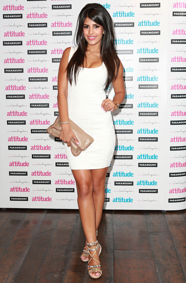 TOWIE's Jasmin Walia attends the Attitude Magazine Hot 100 Party in London, England - 16 July 2014