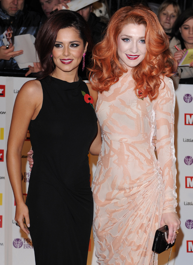 Cheryl Cole and Nicola Roberts, Pride of Britain Awards held at the Grosvenor House - Arrivals. London, England - 08.11.10