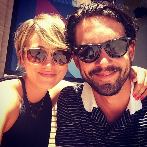 Kaley Cuoco and Ryan Sweeting ahead of his 27th birthday, 14 July 2014
