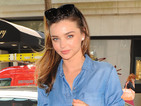 Miranda Kerr nails the double denim trend while out in New York
