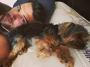 TOWIE's Ricky Rayment topless AND a cute dog: What more could we want?!