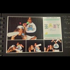 JLS star Oritsé Williams and pregnant girlfriend AJ Azari celebrate baby shower (21 July 2014).